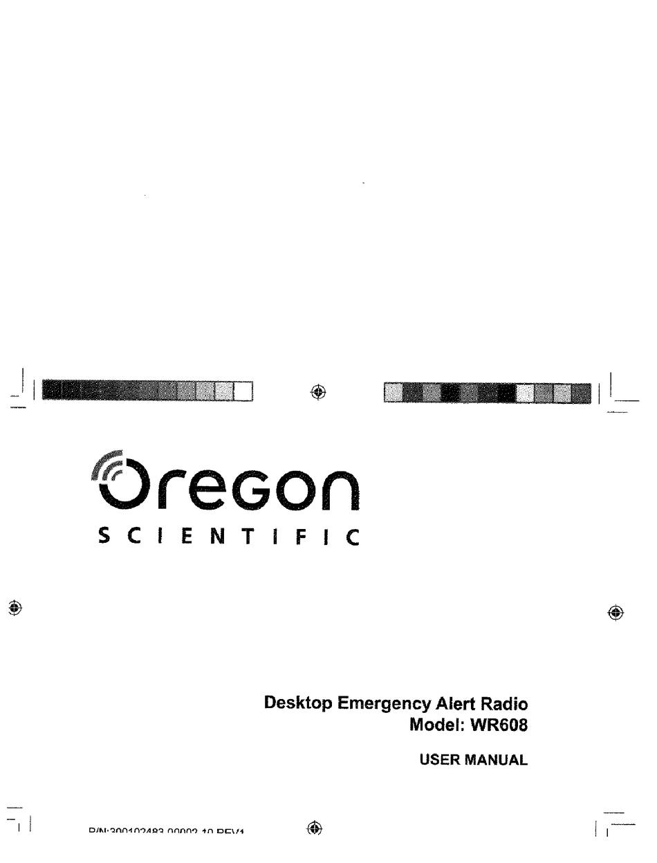 Oregon Scientific Wr608 User Manual Pdf Download Manualslib