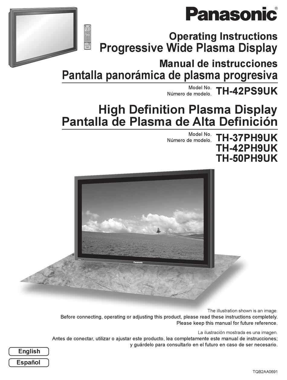 Panasonic Th 37ph9uk Operating Instructions Manual Pdf Download Manualslib