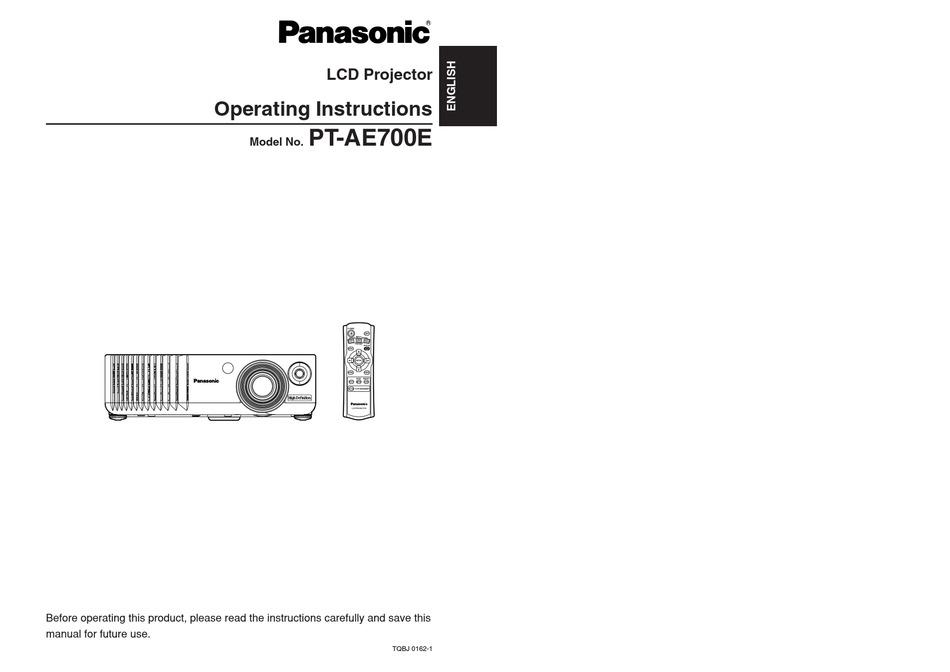 Panasonic Pt Ae700 Operating Instructions Manual Pdf Download Manualslib