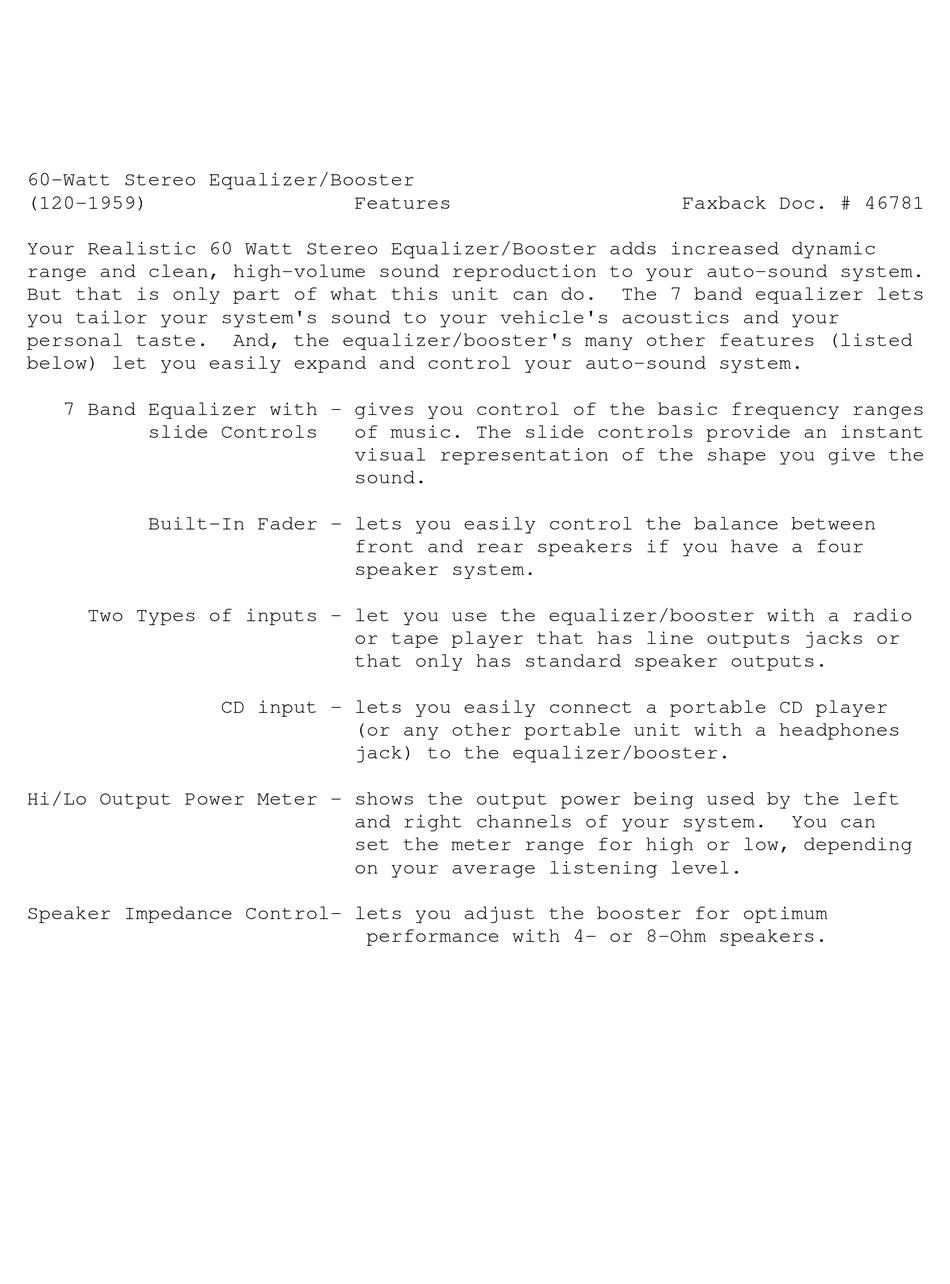 REALISTIC 120-1959 USER MANUAL Pdf Download | ManualsLib | Realistic Equalizer Wiring Diagram |  | ManualsLib