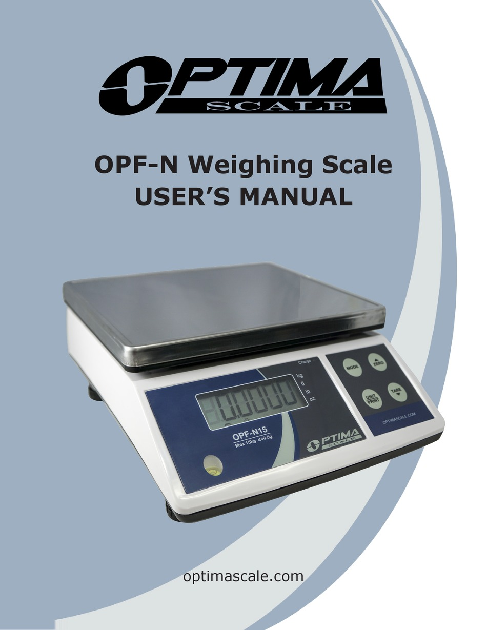 Optima Scales OPF-N30 Precision Balance 30kg x 1g