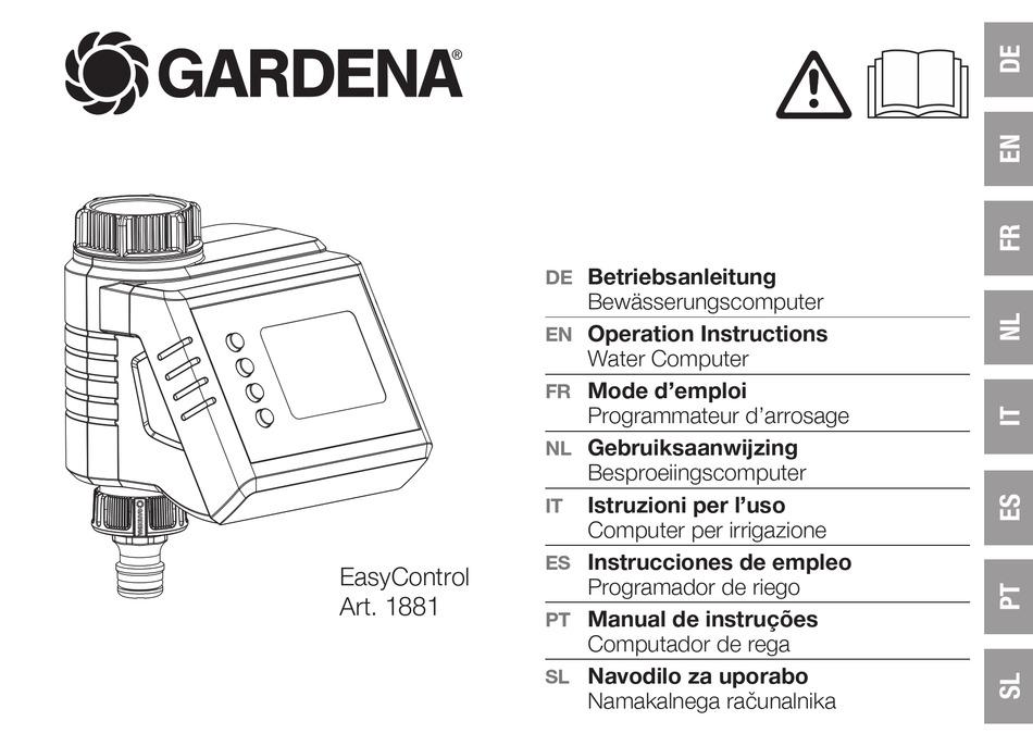 gardena easycontrol - Gardena Easy Control Water Timer Instructions