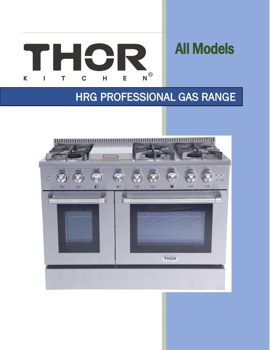 Thor Kitchen Hrg4801u Manual Pdf Download Manualslib
