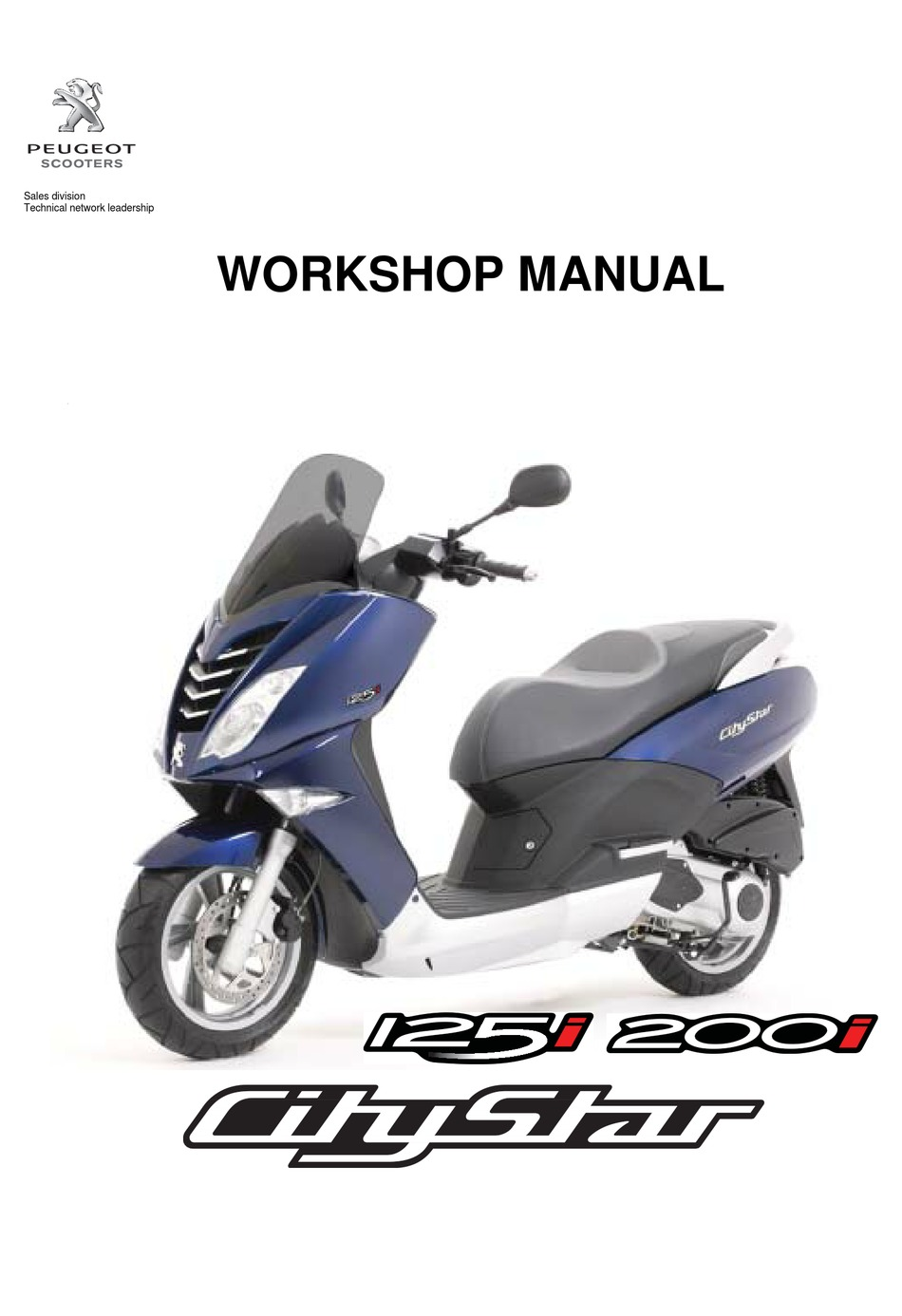 Peugeot Motorcycles Citystar 125i Workshop Manual Pdf Download Manualslib