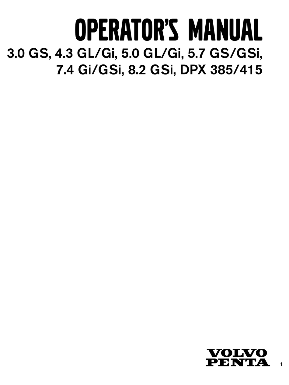 VOLVO PENTA 3.0 GS OPERATOR'S MANUAL Pdf Download   ManualsLib   Volvo Penta 3 0 Gs Wiring Diagram      ManualsLib
