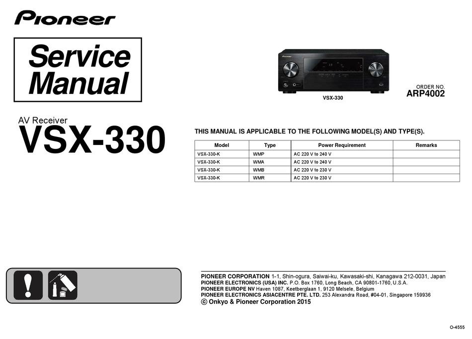 PIONEER KE5000 - Service Manual Immediate Download