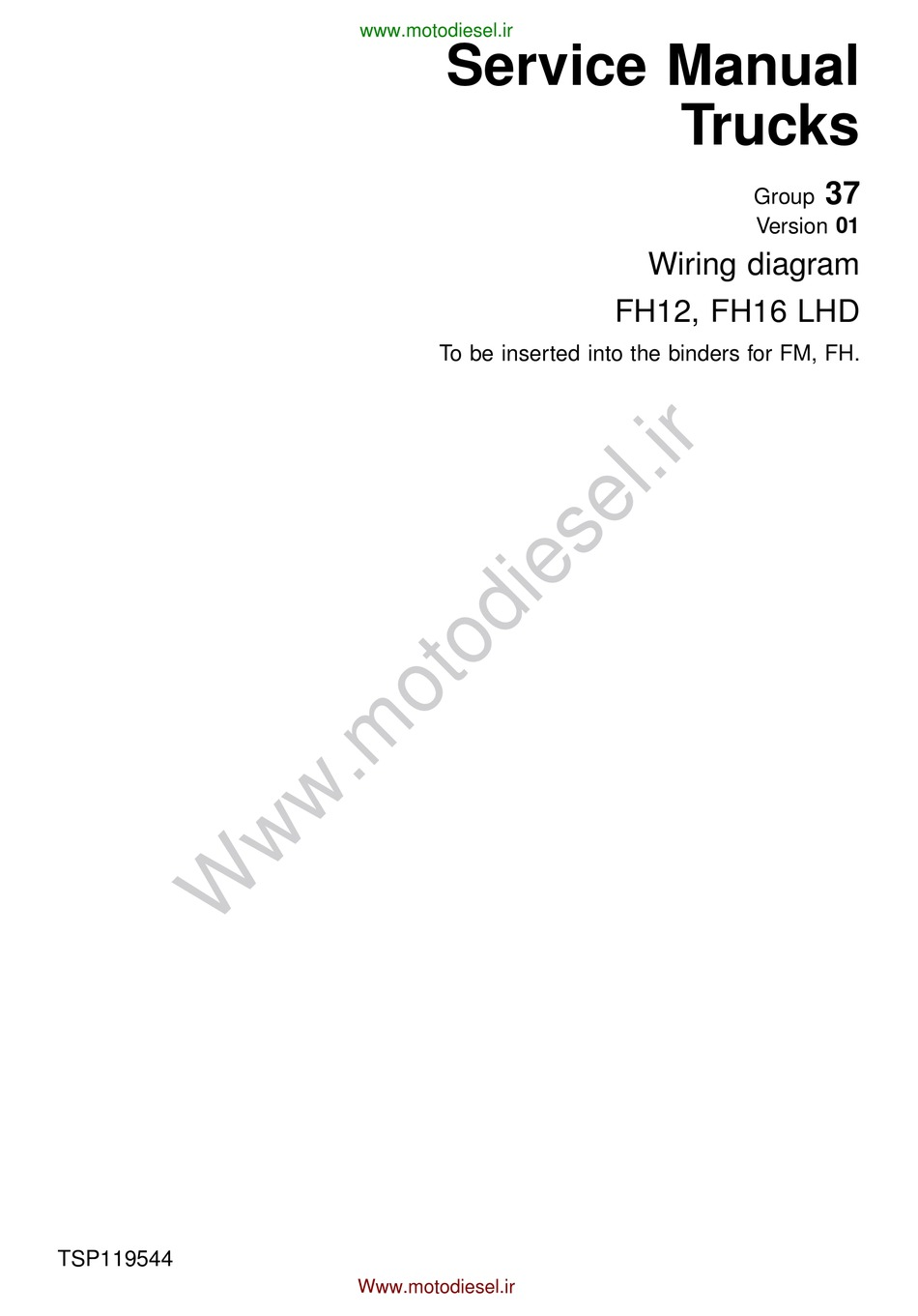 VOLVO FH12 LHD WIRING DIAGRAM Pdf Download | ManualsLib | Volvo Fh12 Wiring Diagram Pdf |  | ManualsLib