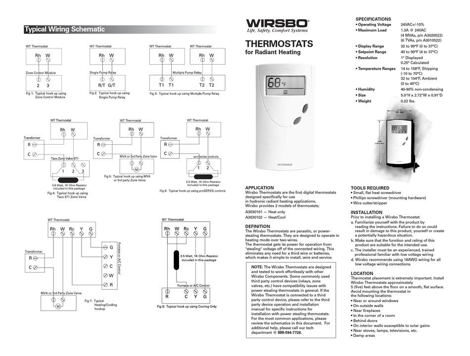 WIRSBO WT1 MANUAL Pdf Download | ManualsLib | Wirsbo Underfloor Heating Wiring Diagram |  | ManualsLib