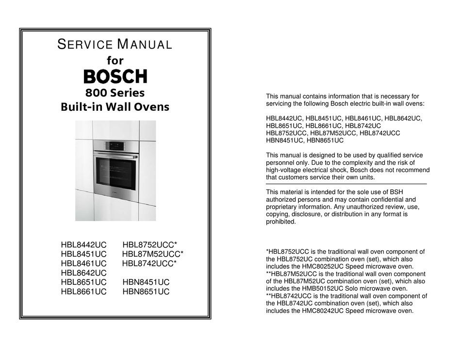 BOSCH 800 SERIES SERVICE MANUAL Pdf Download | ManualsLibManualsLib