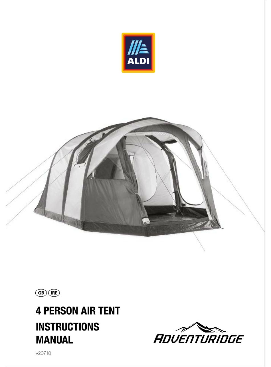 Adventuridge 4 Person Air Tent Instruction Manual Pdf Download Manualslib
