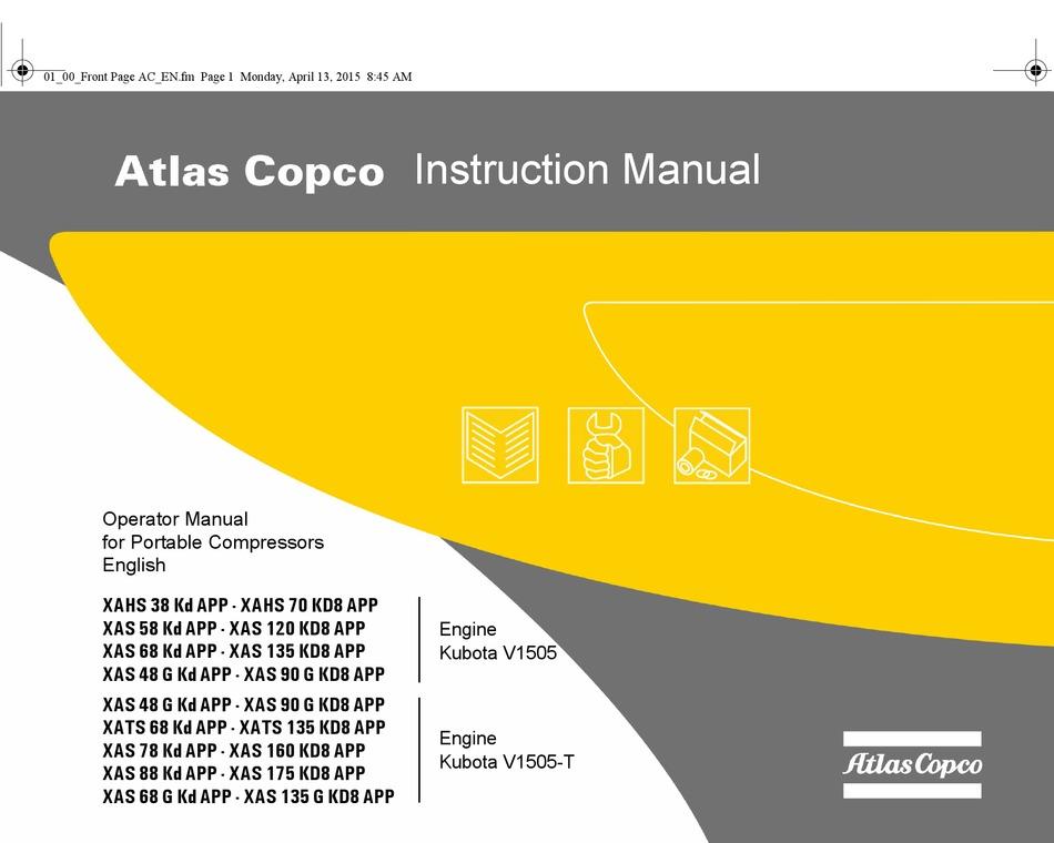 Atlas Copco Xahs 38 Kd Instruction Manual Pdf Download Manualslib