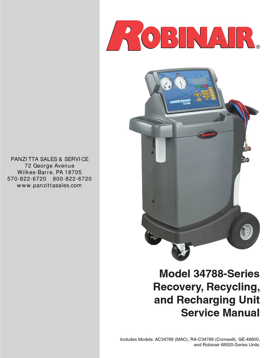 Robinair 34900 Multi Refrigerant Recovery Unit Ny Tech Supply