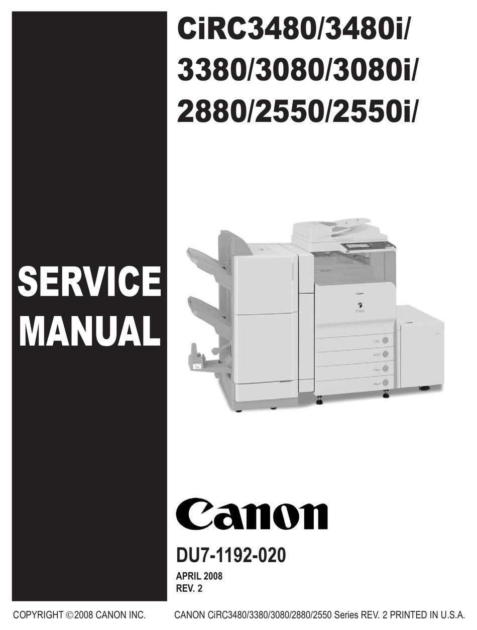 Canon Color Ir C3480 Service Manual Pdf Download Manualslib