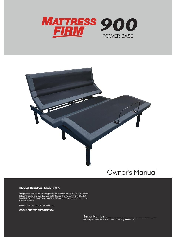 Mattress Firm 900 Power Base Owner S Manual Pdf Download Manualslib