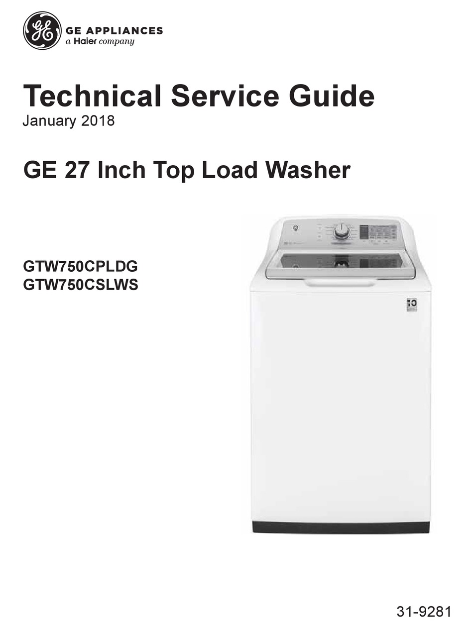 Ge Gtw750cpldg Technical Service Manual Pdf Download Manualslib