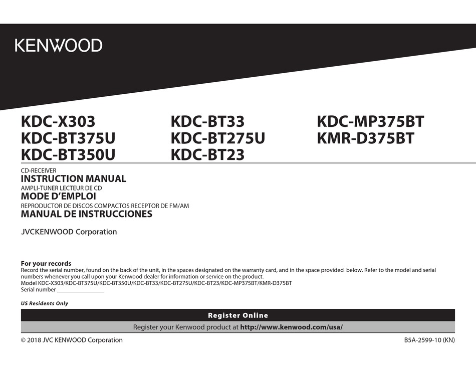 kenwood kdcx303 instruction manual pdf