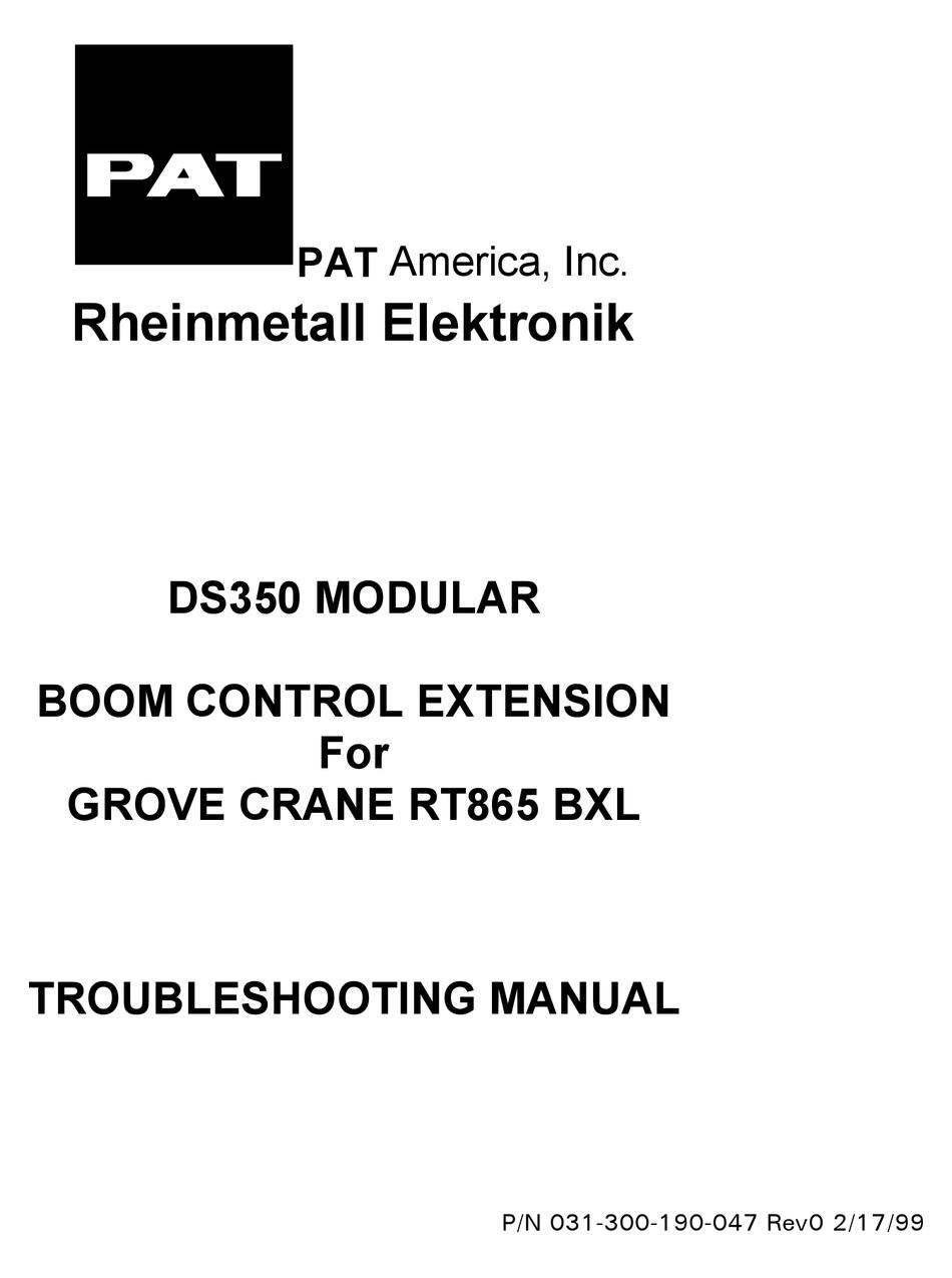 Pat Ds350 Troubleshooting Manual Pdf Download Manualslib
