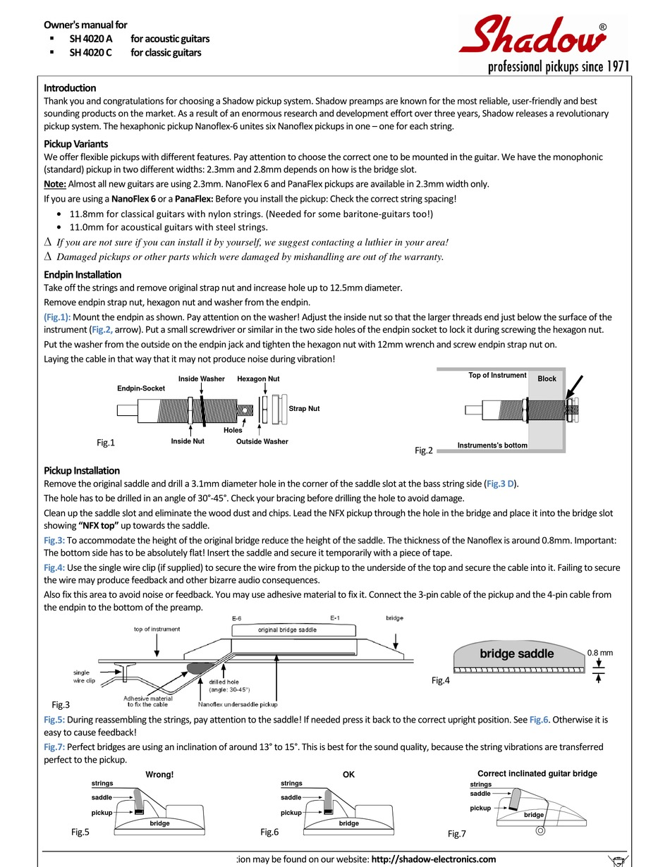 Shadow Sh 4020 A Owner S Manual Pdf Download Manualslib