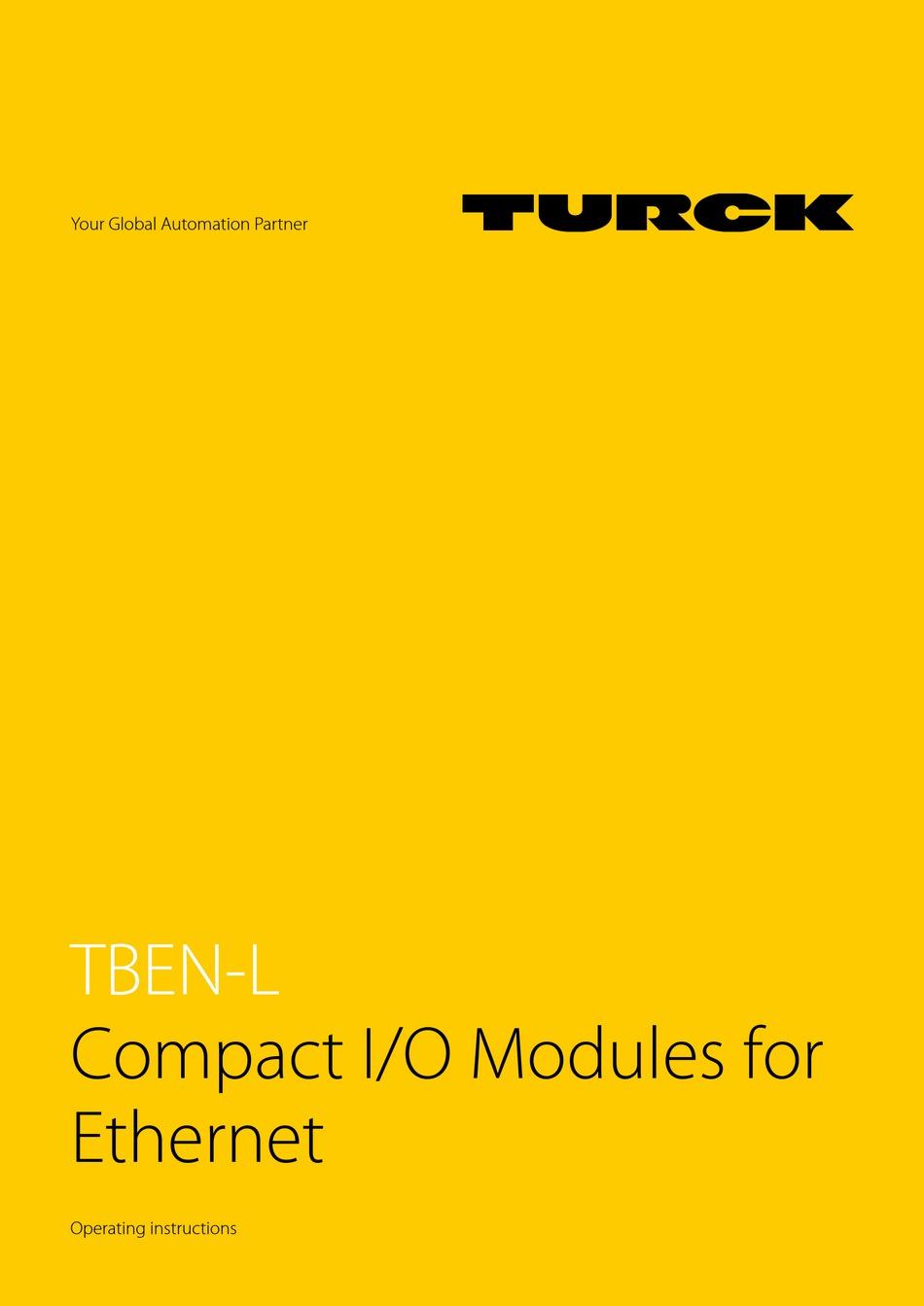 TURCK TBEN-L SERIES OPERATING INSTRUCTIONS MANUAL Pdf Download | ManualsLib | Turck I O Block Wiring Diagram |  | ManualsLib