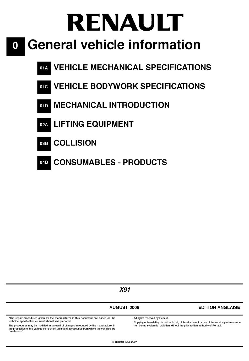 RENAULT LAGUNA III MANUAL Pdf Download   ManualsLib