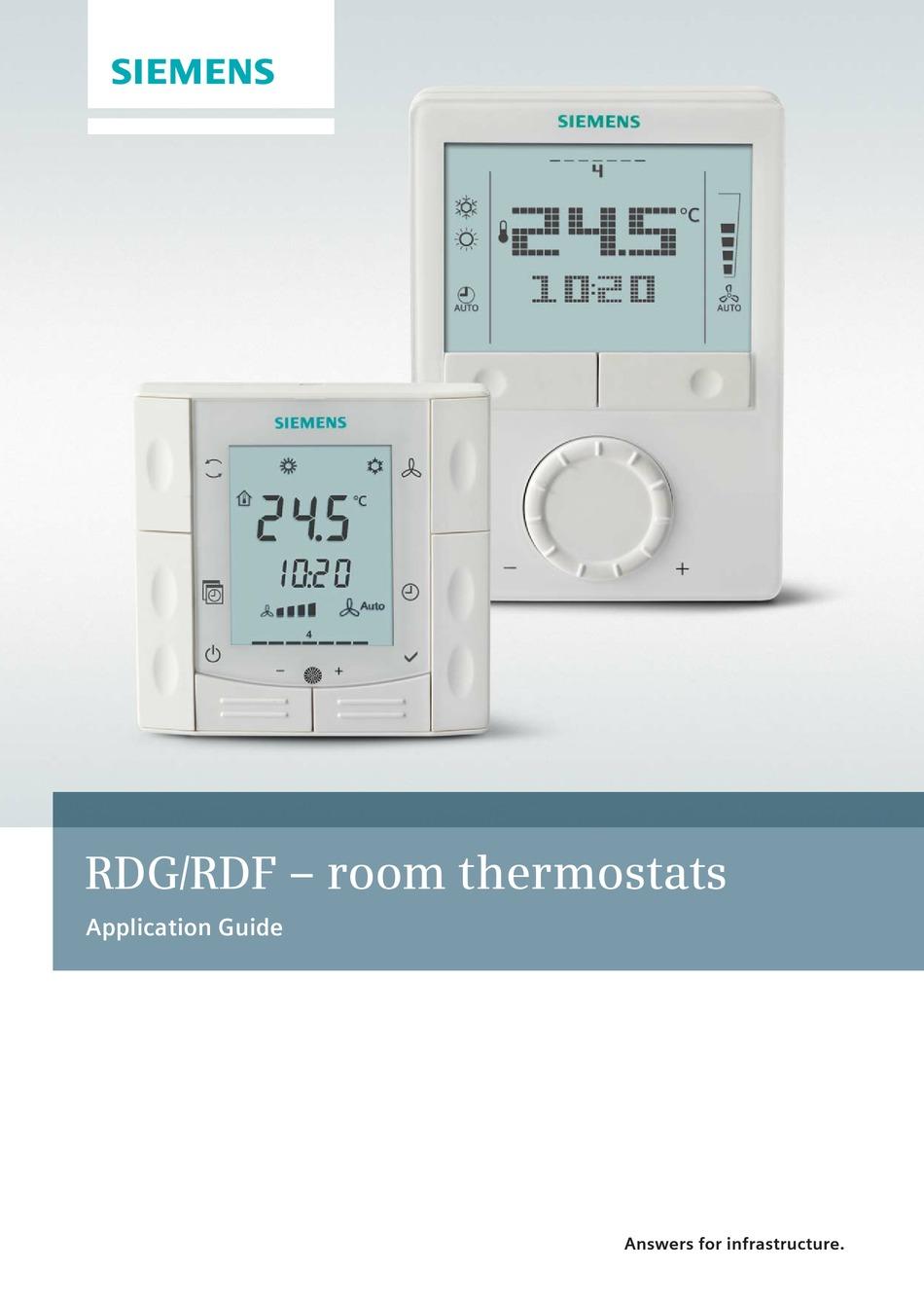 SIEMENS RDG100 Raumthermostat