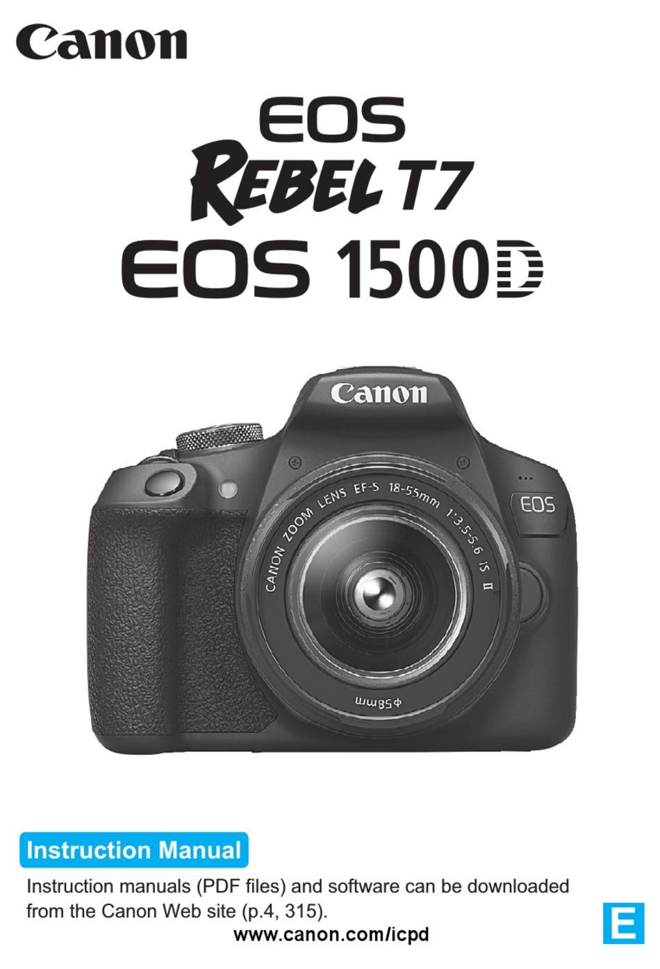 CANON EOS 20D REBEL T20 INSTRUCTION MANUAL Pdf Download   ManualsLib
