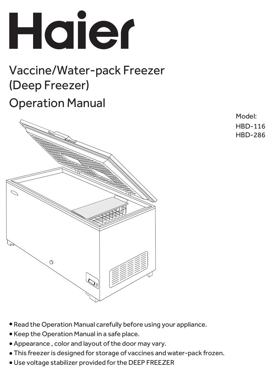 12+ Haier Freezer Manual