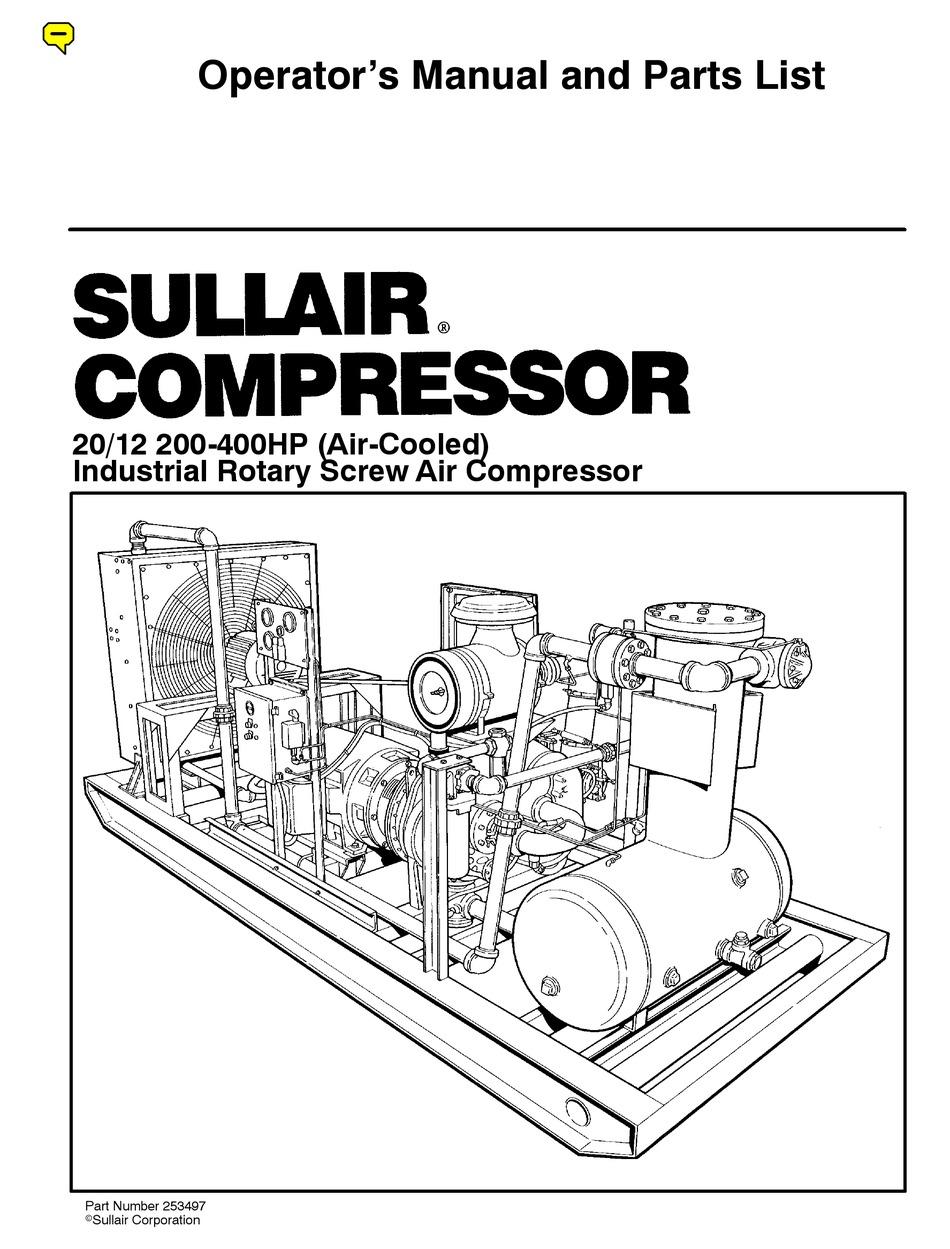 SULLAIR 20/12 SERIES OPERATOR'S MANUAL AND PARTS LIST Pdf Download |  ManualsLib
