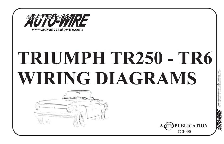 Triumph Tr6 1969 Wiring Diagrams Pdf Download Manualslib