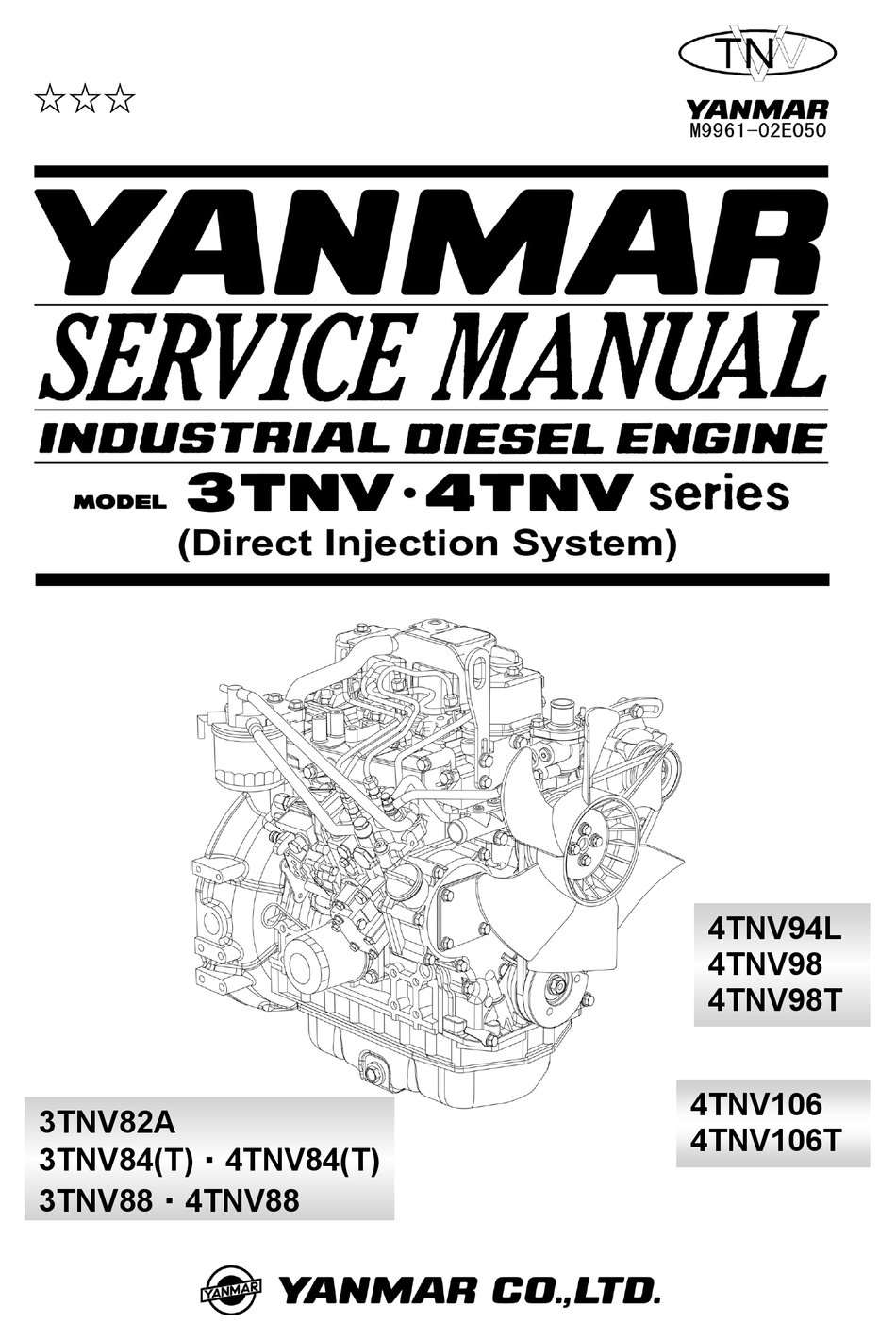 Yanmar 3tnv Series Service Manual Pdf Download Manualslib