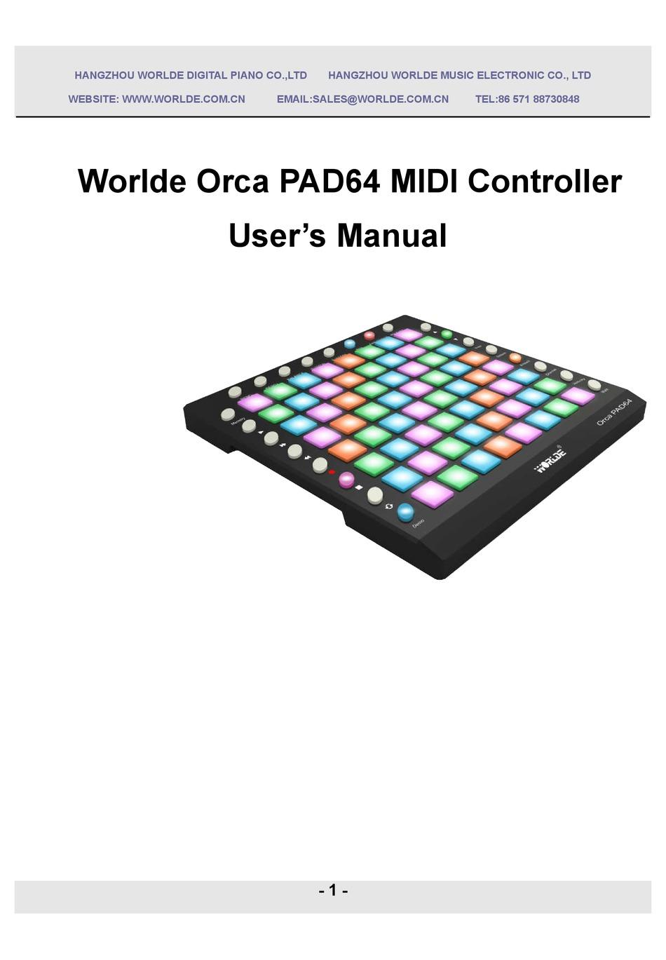 Worlde Panda Midi Software Editor