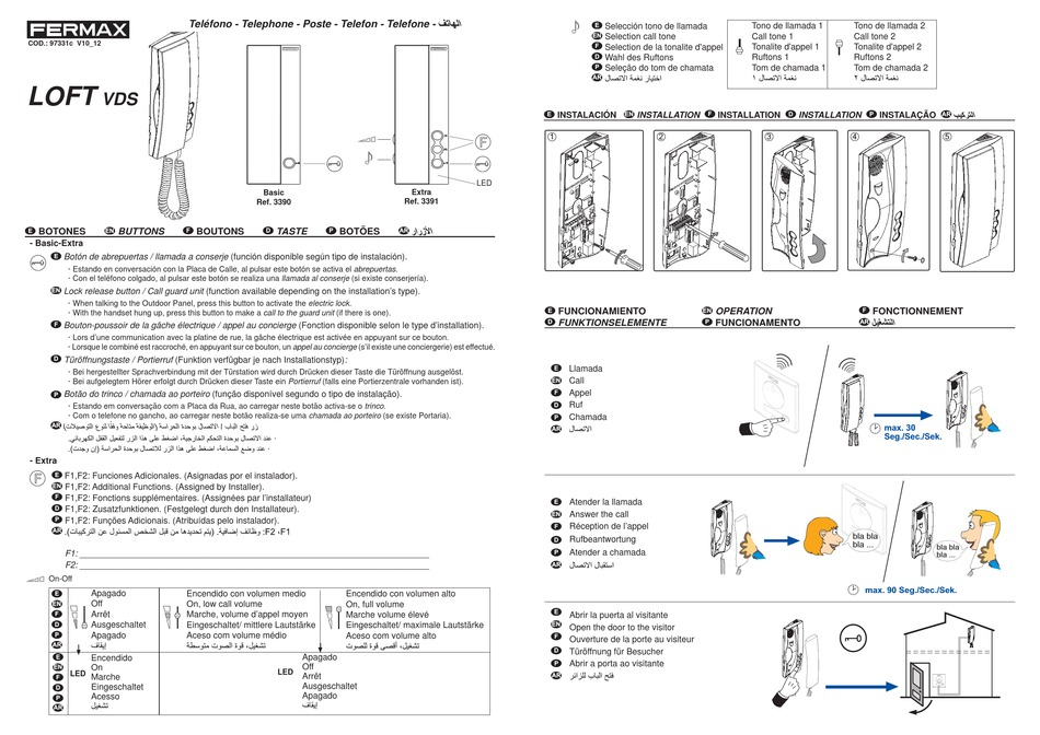 fermax loft vds series quick start manual pdf download