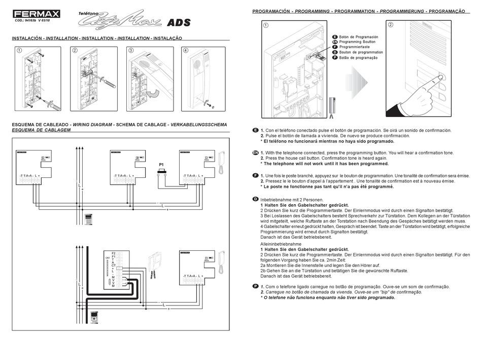 fermax city max ads quick start manual pdf download  manualslib