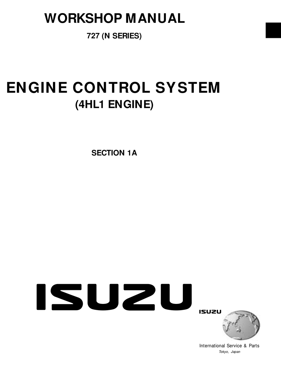 Isuzu 4hl1 Work Manual Pdf