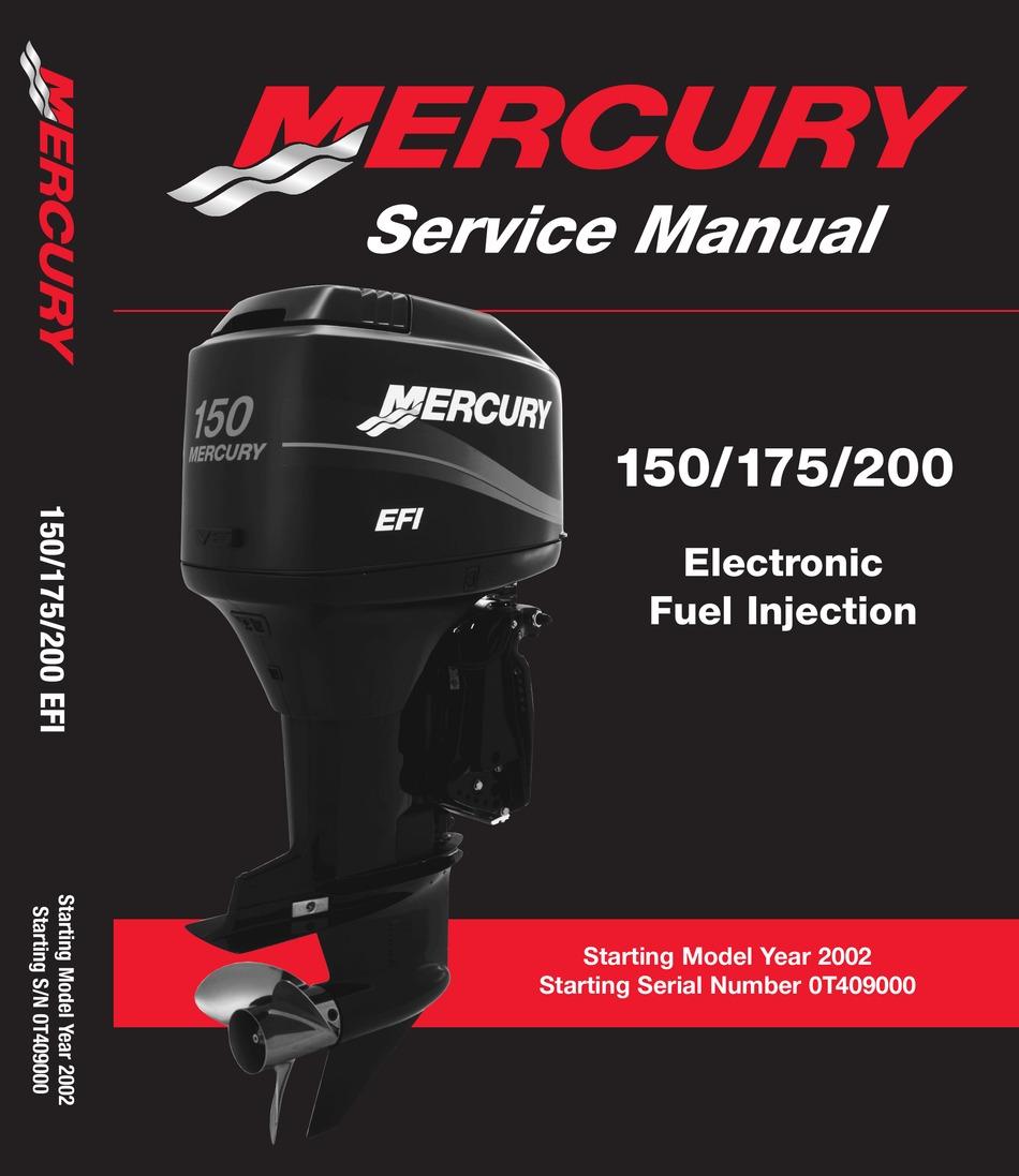mercury 150 efi service manual pdf download   manualslib  manualslib