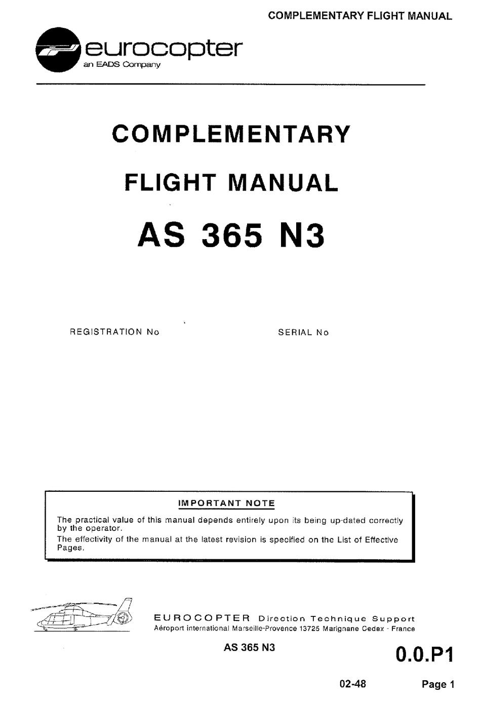 Eads Eurocopter As 365 N3 Flight Manual Pdf Download Manualslib