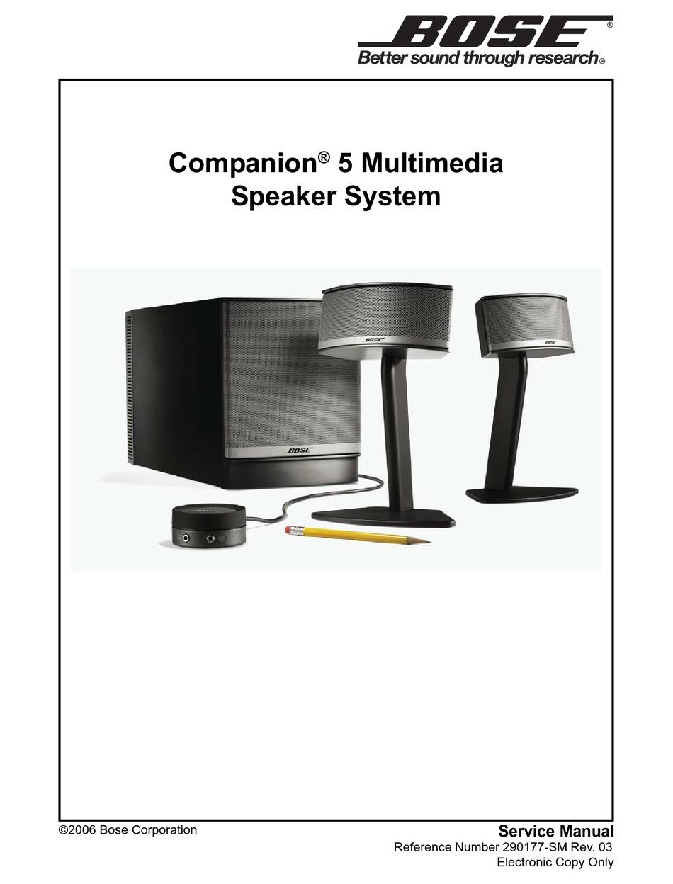 BOSE COMPANION 5 SERVICE MANUAL Pdf Download | ManualsLib
