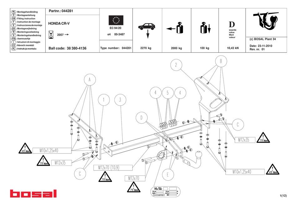 bosal 044281 fitting instructions manual pdf download
