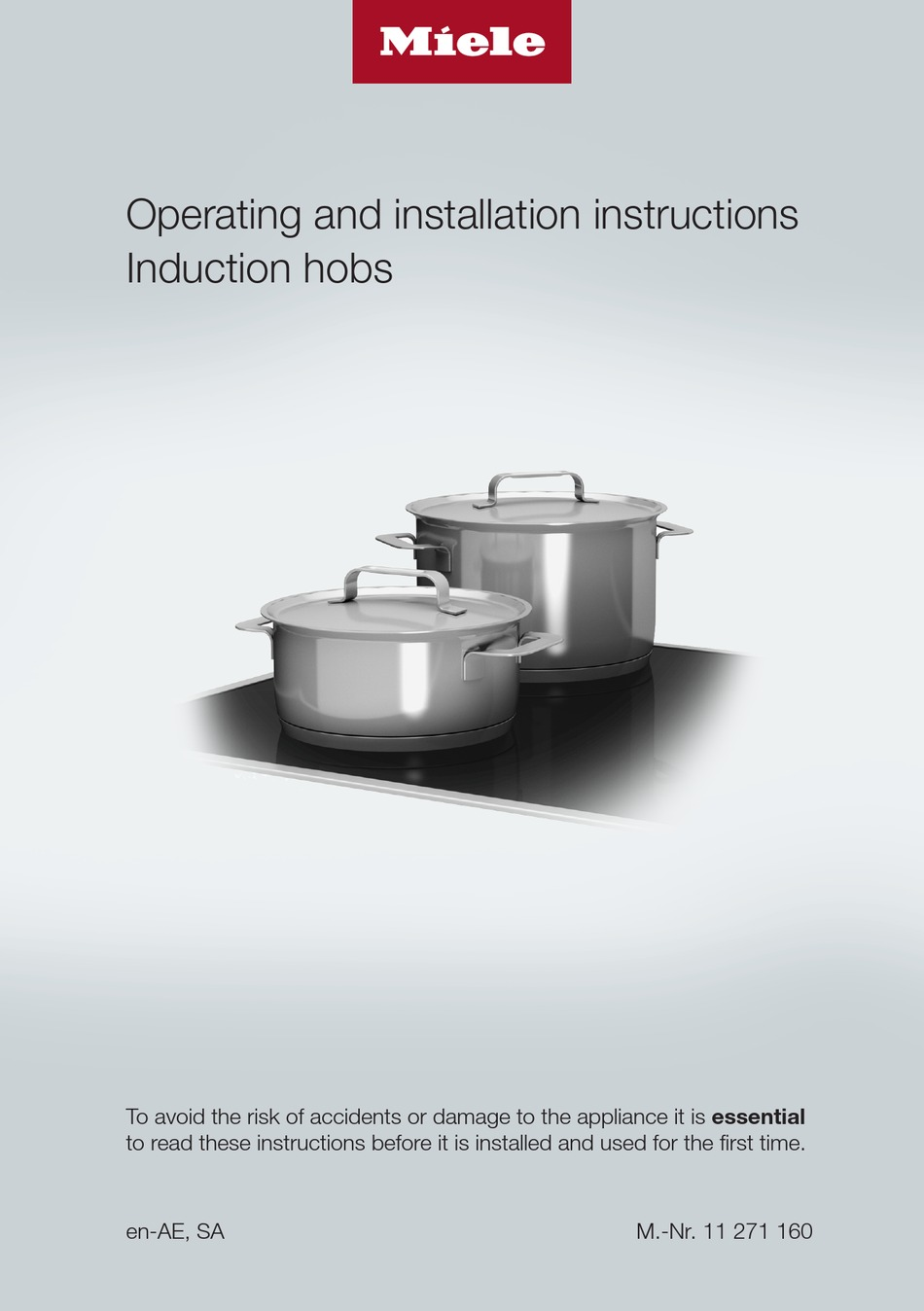Miele Km 7404 Fx Operating And Installation Instructions