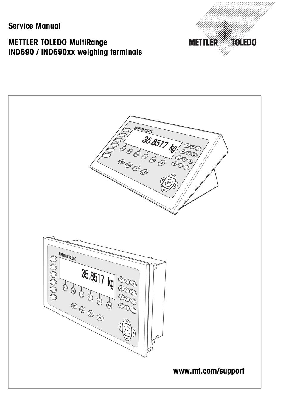 Mettler Toledo Multirange Ind690 Series Service Manual Pdf Download Manualslib