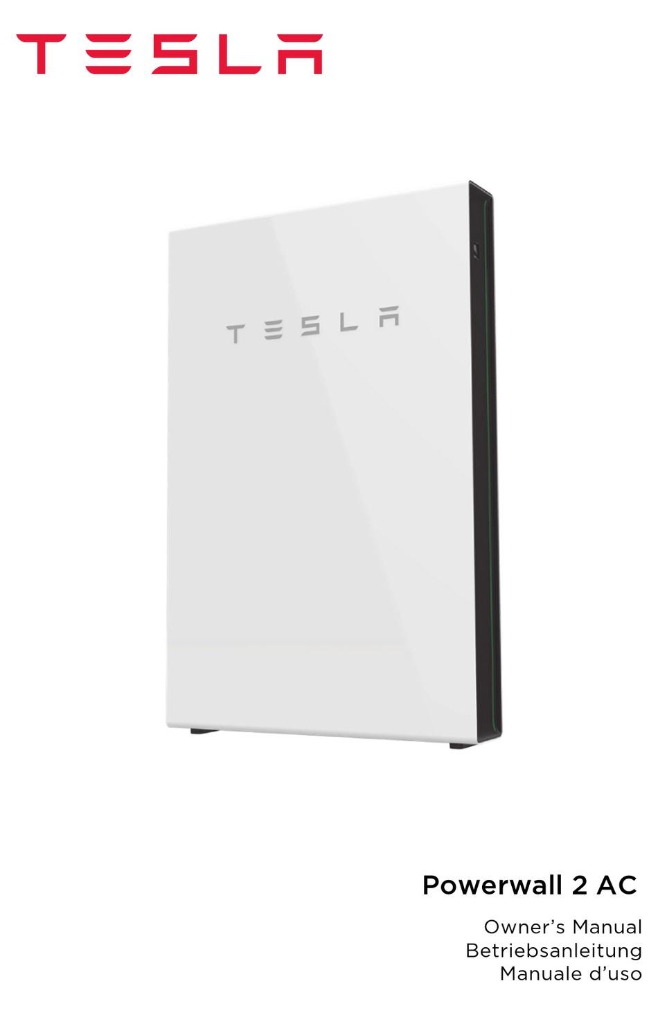 TESLA POWERWALL 2 AC OWNERS MANUAL Pdf Download | ManualsLib