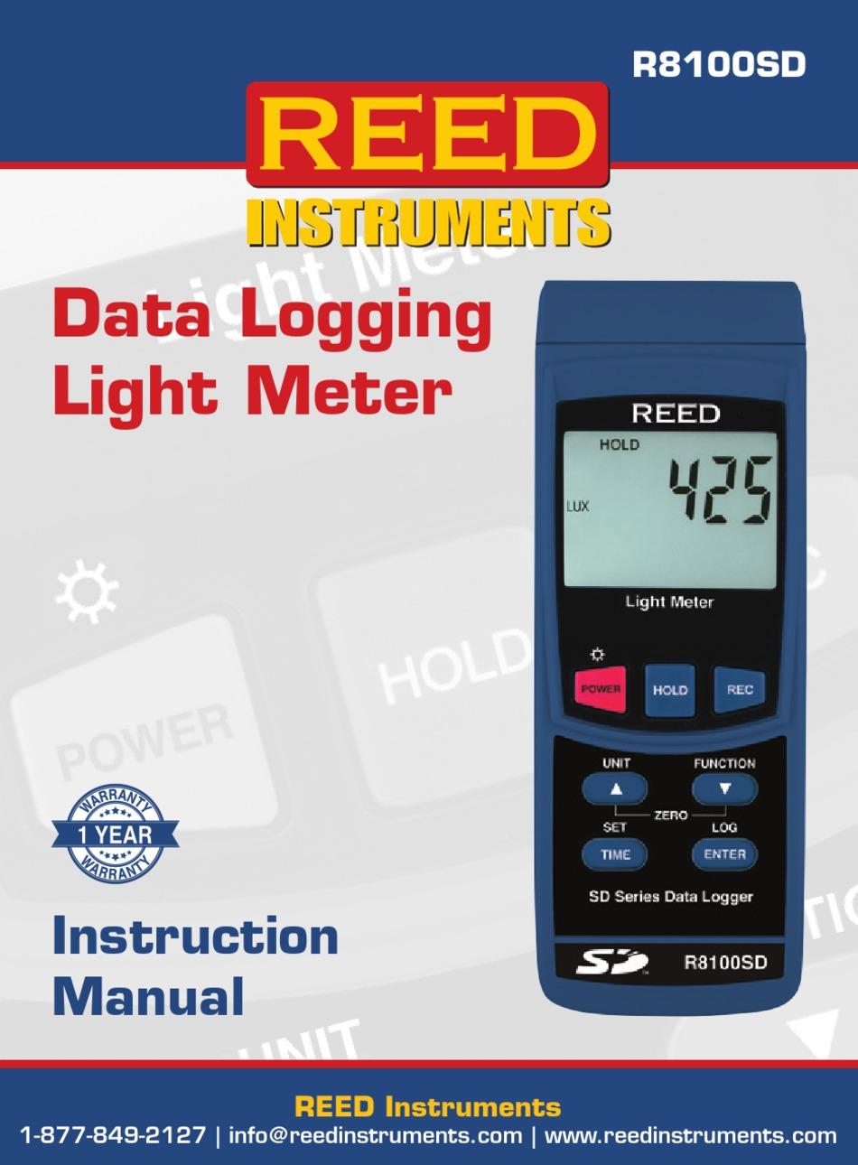 Industrial & Scientific REED Instruments R8100SD Data Logging ...