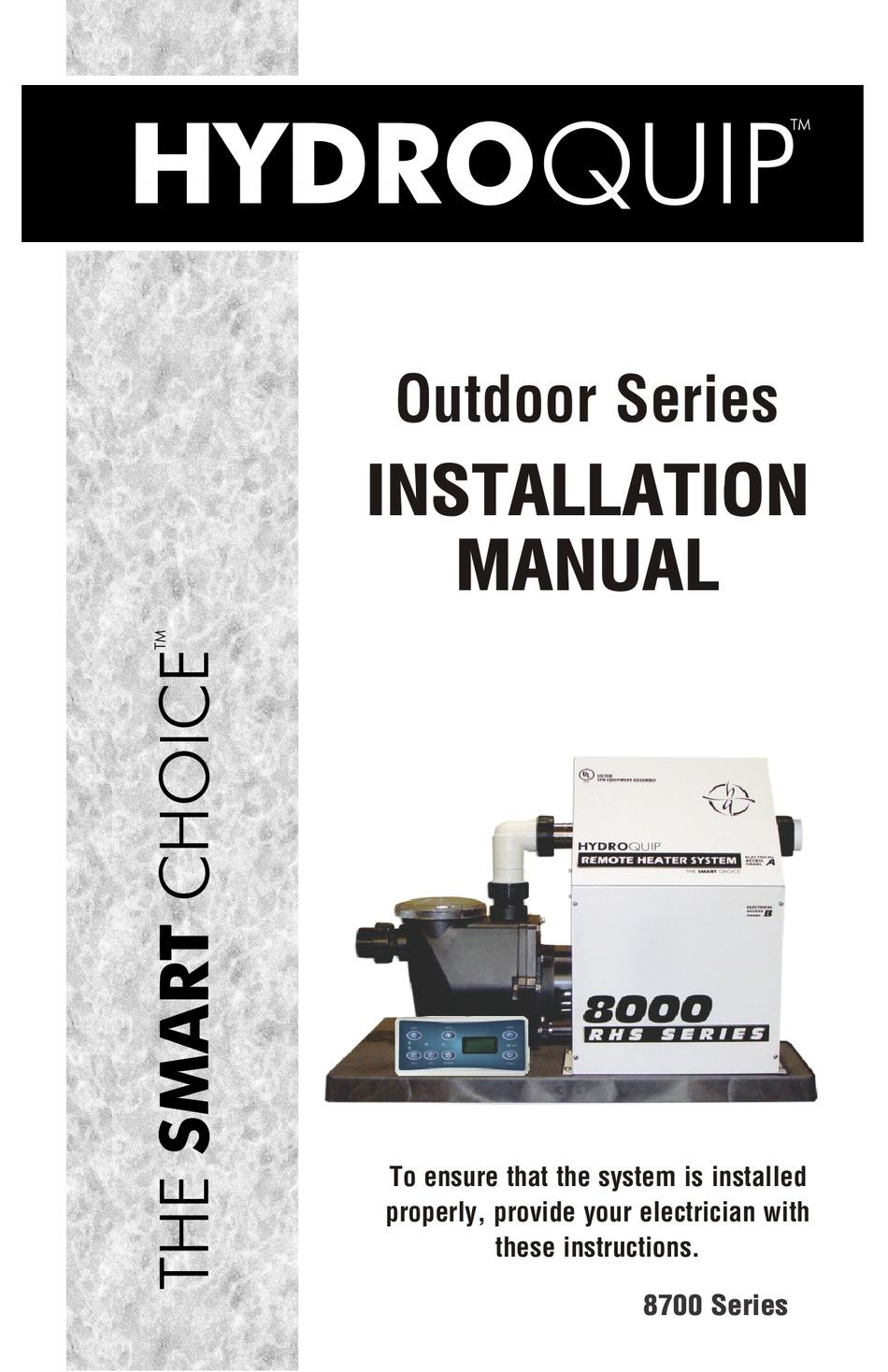 HYDROQUIP OUTDOOR SERIES INSTALLATION MANUAL Pdf Download   ManualsLib   Hydro Quip Heater Wiring Schematics      ManualsLib