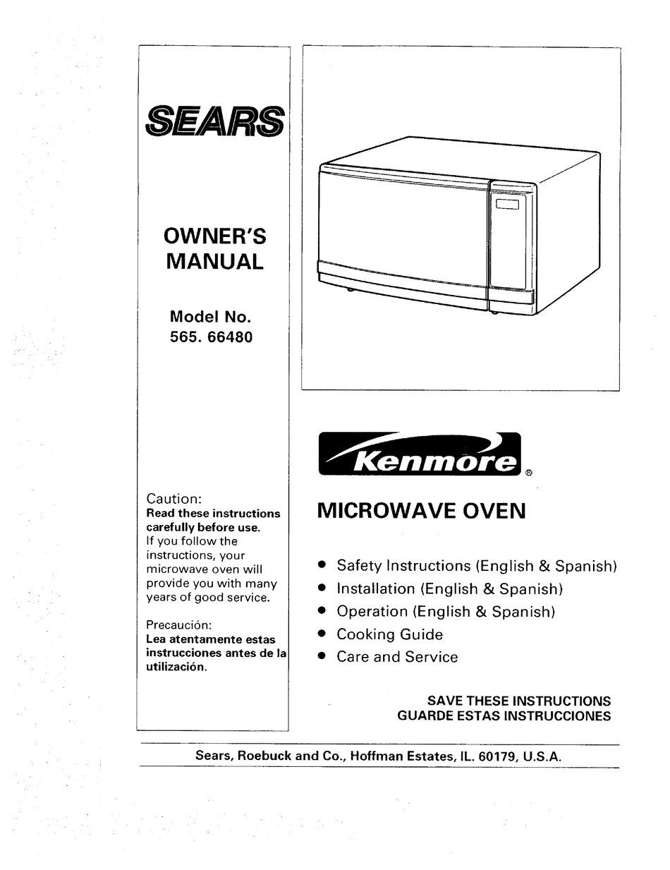 Kenmore 565 66480 Owner S Manual Pdf