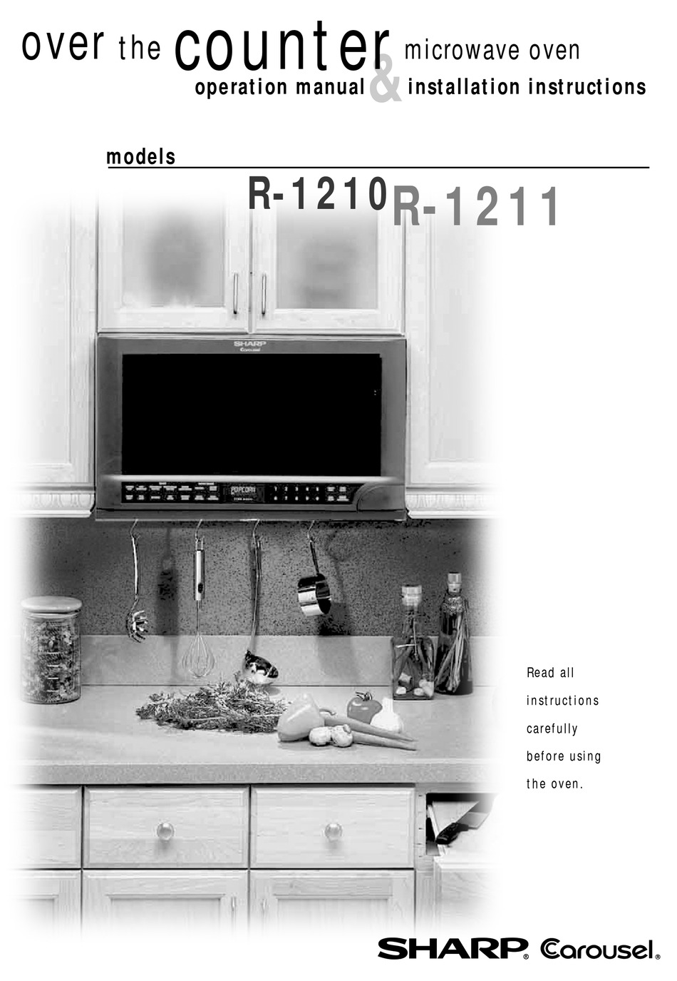 Sharp Carousel R 1210 Operation Manual