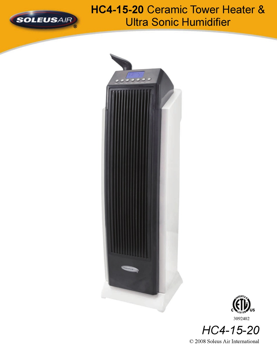 Soleus Air Hc4 15 20 Owner S Manual Pdf Download Manualslib