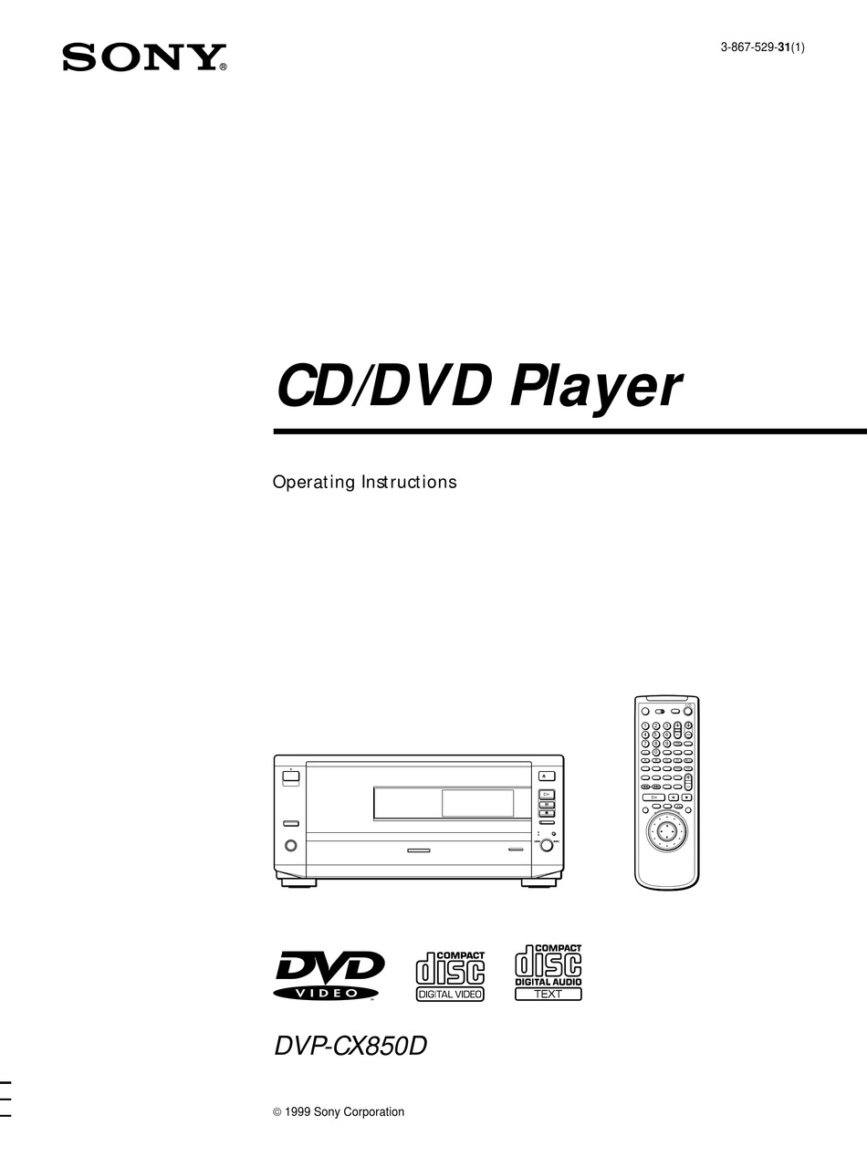 Sony Dvp Cx850d Operating Instructions Manual Pdf Download Manualslib