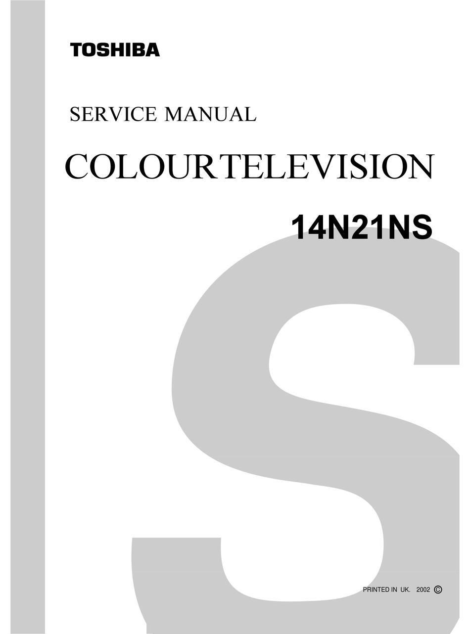 Crt Tv Toshiba 14n21ns Service Manual