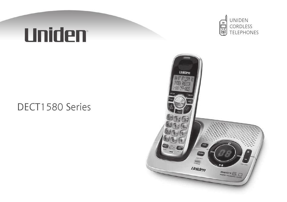 Uniden Dect1580 User Manual Pdf Download Manualslib