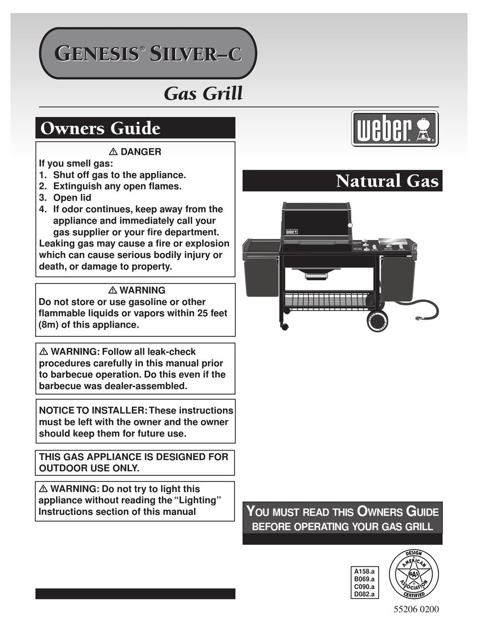 Weber Genesis Silver C Owner S Manual Pdf Download Manualslib